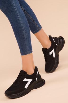 Soho Exclusive Siyah-Beyaz Kadın Sneaker 15218 1