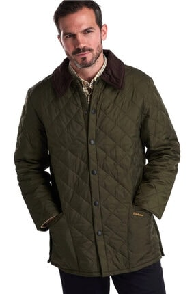 Barbour Erkek Yeşil Liddesdale® Kapitone Regular Fit Mont 0