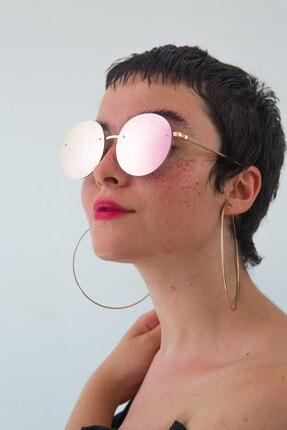 Bilge Karga Kadın Pembe Kylie Pink Mirror Güneş Gözlüğü 1