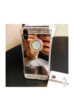 Ksyaccessories Iphone 8 Plus Aynalı Ve Taşlı Selfie Yüzüklü Telefon Kılıfı 2