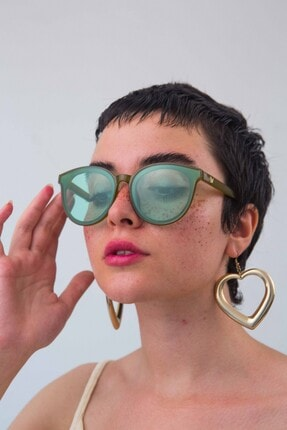Bilge Karga Kadın Yeşi lGüneş Gözlüğü 4