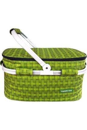 Weigo Thermo Bag Termoslu Piknik Sepeti - Piknik Çantası Yeşil 0
