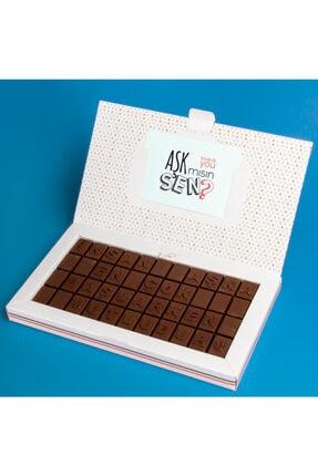Hediyesepeti Yeni Aşıklara Hediye Romantik Mesajlı Harf Çikolata 0