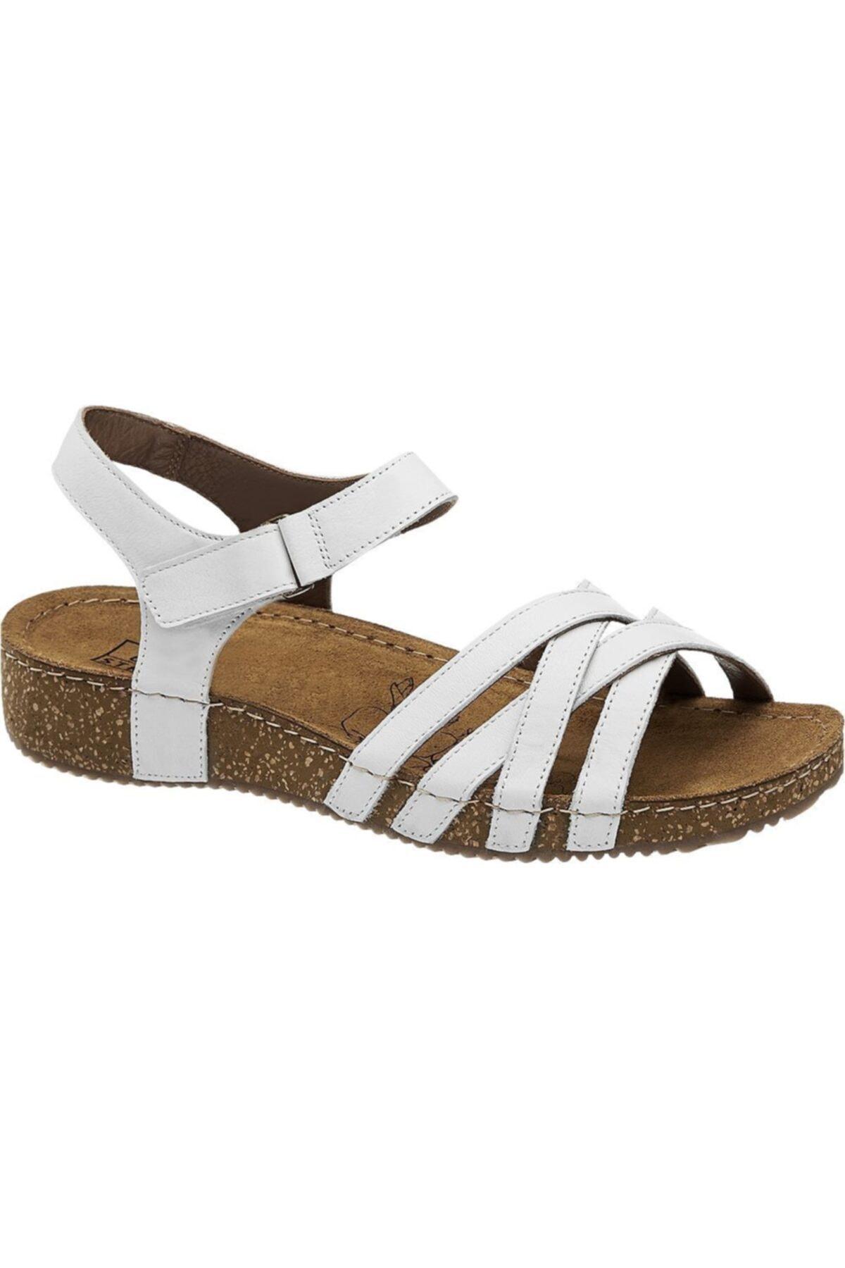 5th Avenue Deichmann 5th Avenue Kadın Hakiki Deri Beyaz Sandalet