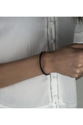 Linterna Silver Kadın Gümüş Zirkon Taşlı Kelepçe Tasarım Bileklik 1
