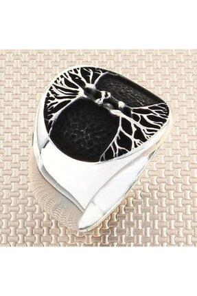 DIGERUI Ağaç Erkek Gümüş Yüzük 0
