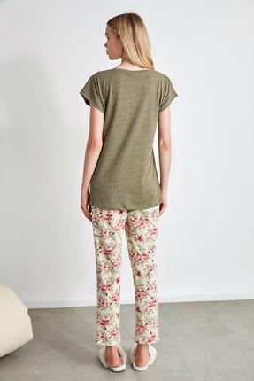 TRENDYOLMİLLA Çiçek Desenli Örme Pijama Takımı THMSS20PT0083 4