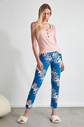 TRENDYOLMİLLA Çiçek Desenli Örme Pijama Takımı THMSS20PT0368 2