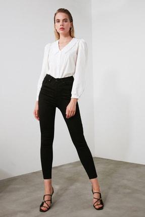 TRENDYOLMİLLA Siyah Yüksek Bel Skinny Jeans TWOAW21JE0251 1