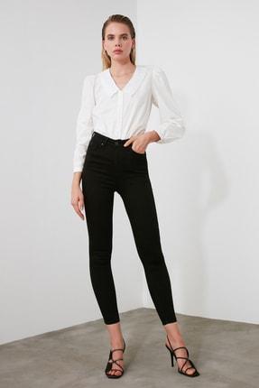 TRENDYOLMİLLA Siyah Yüksek Bel Skinny Jeans TWOAW21JE0251 2