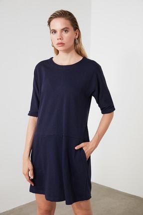 TRENDYOLMİLLA Lacivert Cep Detaylı Mini Örme Elbise TWOAW21EL0891 0