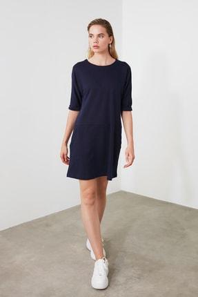 TRENDYOLMİLLA Lacivert Cep Detaylı Mini Örme Elbise TWOAW21EL0891 1
