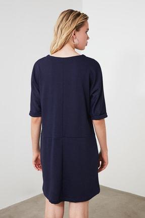 TRENDYOLMİLLA Lacivert Cep Detaylı Mini Örme Elbise TWOAW21EL0891 2