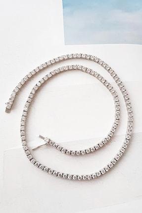 MorMajor Silver 3.3 Mm Su Yolu Taşlı Gümüş Kolye 0