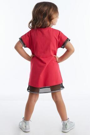 Mushi Kız Çocuk Fuşya Unicorn Rock Baskılı Elbise 1