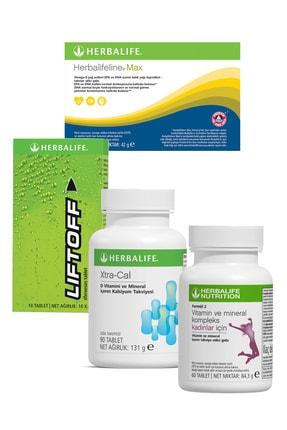 Herbalife Vitamin Paketi Kadın Vitamini+xtra-cal+balık Yağı Omega 3+liftoff Enerji Içeceği 0