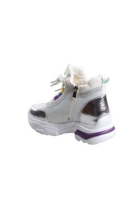 Guja 20k385 Bayan Gümüş Günlük Sporbot Ayakkabı 2