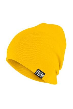 Thug Life Triko Bere Sarı 0