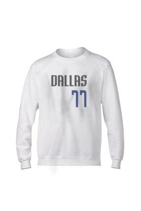 Fanatico Unisex Beyaz Dallas Luka Don?i? Basic Sweatshirt 0