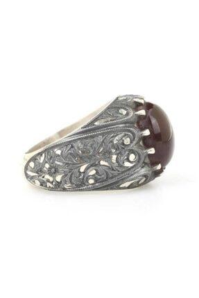Nusret Takı Erkek 925 Ayar Gümüş Tırnaklı Kalemkar Yüzüğü 1