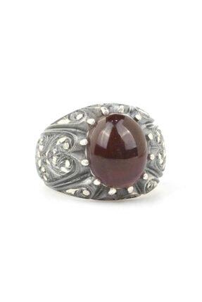 Nusret Takı Erkek 925 Ayar Gümüş Tırnaklı Kalemkar Yüzüğü 2
