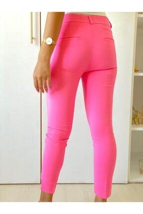 ElModa Boutique Kadın Fuşya Paça Detaylı Pantolon 3