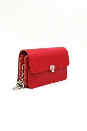 Santa Polo Kadın Kırmızı El Ve Omuz Çantası 1
