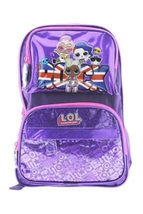 Lol Kız Çocuk Dört Bölmeli Mor Rock Okul Çantası Ve Kalemlik Seti 20429 1