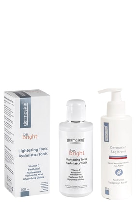 Dermoskin Be Bright Aydınlatıcı Tonik 200 Ml + Saç Kremi Hediyeli Avantaj Paket 200 ml 0