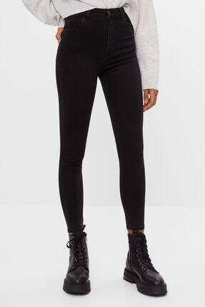 Bershka Kadın Siyah Süper Yüksek Bel Jean 2