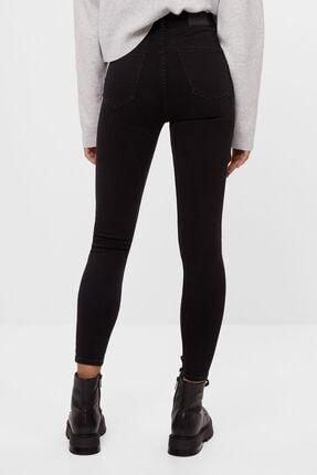 Bershka Kadın Siyah Süper Yüksek Bel Jean 3