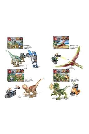 e-life Es1113 Lego Blok Yapı Jurassic Park Jurassic World Serisi 4 Paket Bir Arada 0