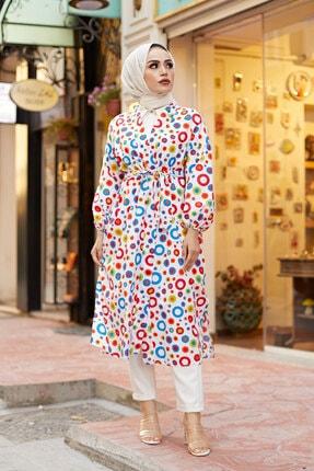 Elifnur Kadın Renkli Kimono 8946-13 2