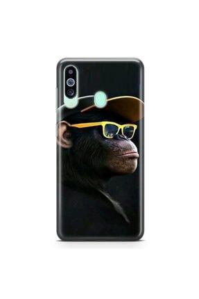 Zipax Samsung Galaxy M40  Karizmatik Maymun Desenli Baskılı Silikon Kılıf 0
