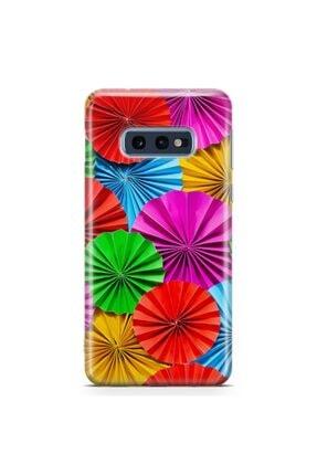 Zipax Samsung Galaxy S10e Renkler ve Ananas Desenli Baskılı Silikon Kılıf 0