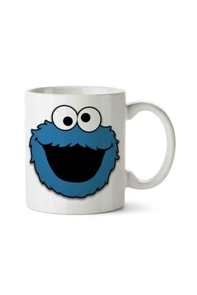 MET DESİGN Cookie Monster Biscuits Porselen Kupa Bardak 0