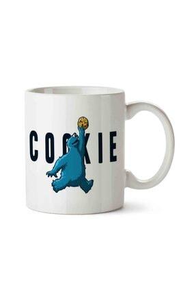 MET DESİGN Cookie Monsters Kurabiye Canavarı Basketbolcu Porselen Kupa Bardak 0