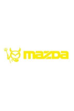 Sticker Fabrikası Mazda Logo Şeytan Sticker 00685 22x5,5 Cm 0