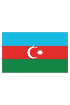 Sticker Fabrikası Azerbaycan Bayrağı Sticker 00702 9x5 Cm 0