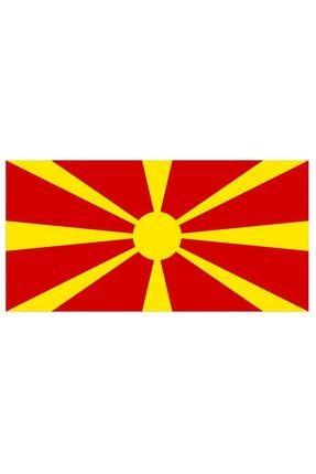 Sticker Fabrikası Makedonya Makedon Bayrağı Sticker 00722 13x7,5 Cm 0