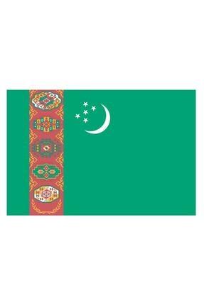 Sticker Fabrikası Türkmenistan Türkmen Bayrağı Sticker 00718 13x7,5 Cm 0