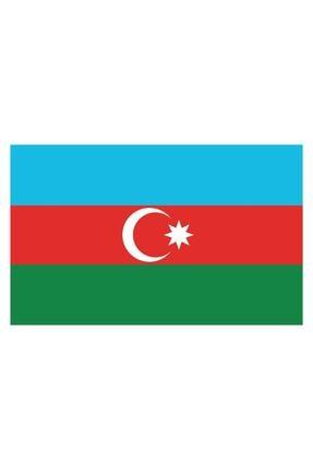 Sticker Fabrikası Azerbaycan Bayrağı Sticker 00702 13x7,5 Cm 0