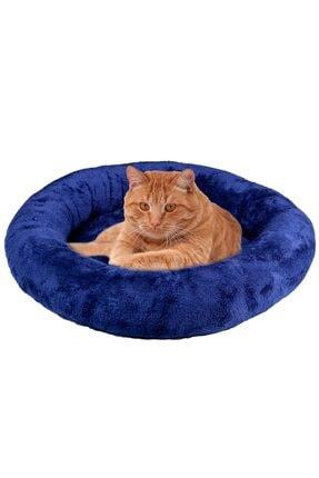 BYPET Peluş Kedi & Köpek Yatağı Büyük Boy Lacivert Peluş Kedi Minderi 65x65cm 1