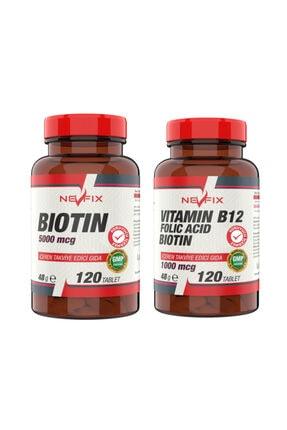 Nevfix B12 Folic Acid&biotin 120 Tablet Biotin 5000 Mcg 120 Tablet 0