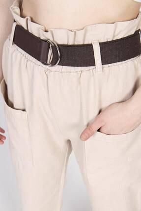 Addax Kadın Bej Cep Detaylı Pantolon PN4139 3