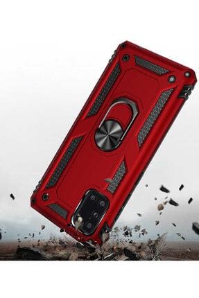 Telefon Aksesuarları A31 Yüzüklü Standlı Zırh Kılıf Kırmızı 3