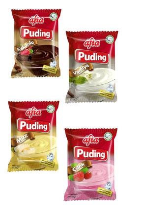 Afia 4 Paket Puding (kakao, Vanilya, Çilek, Muz) 0