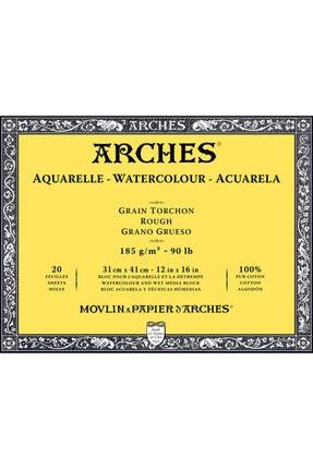 Arches Suluboya Defteri Blok Rough - Kalın Doku 185 Gr. 31x41 Cm. 20 Yaprak 0