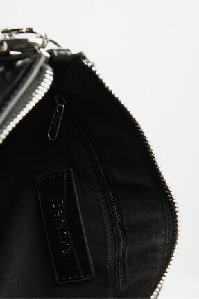 Bershka Kadın Siyah Suni Deri Çanta 3