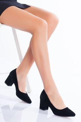 derithy -klasik Topuklu Ayakkabı-siyah Süet 0